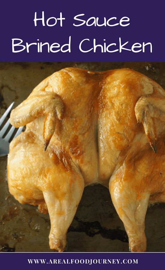 Learn how to dry brine chicken with hot sauce. For this roast chicken I used fanks red hot, a mild hot sauce, which brines the chicken!