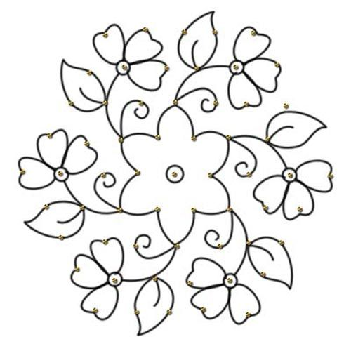 25 Rangoli Designs With Dots For Festivals And Occasions – 2013