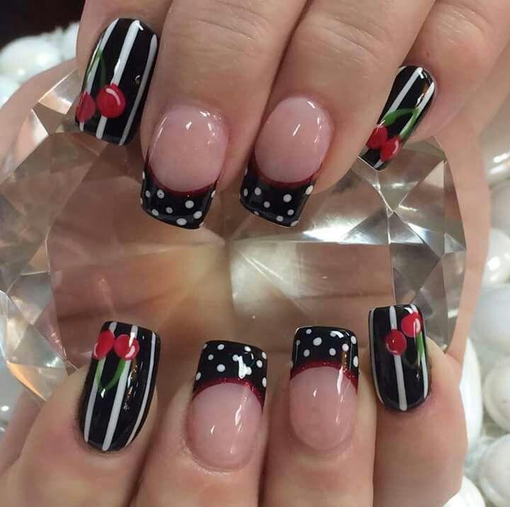 Cherry nail art design