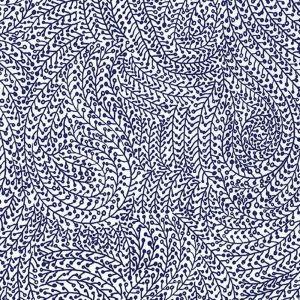 Tissu Michael Miller - Indigo - Midnight Vine Maze x10cm : Tissu en coton, collection Indigo pour Michael Miller. Motif goutte, paisley