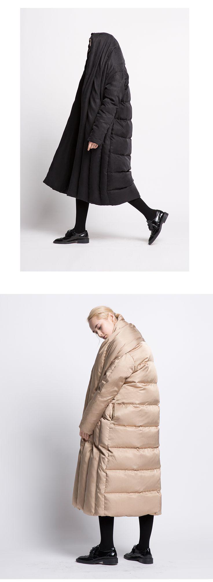 2017 оригинальный дизайн расширение большой одеяло свободные толстый пуховик куртка повседневная одежда женщин купить на AliExpress