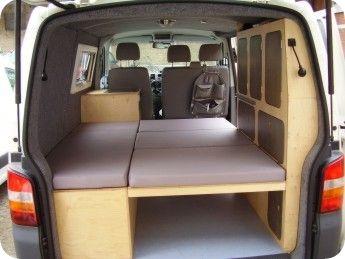 bett aufgebaut t5 campervans pinterest aufzubauen. Black Bedroom Furniture Sets. Home Design Ideas