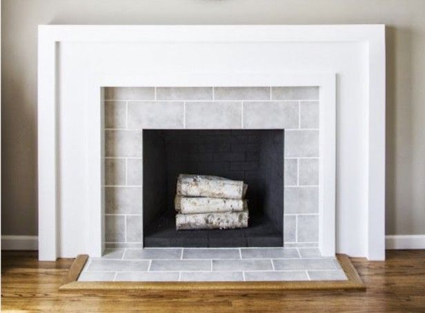 20 best ideas about subway tile fireplace on pinterest