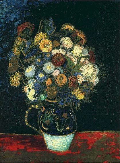 Vincent. Still Life: Vase with Zin-nias. Arles-sur-tech 1888