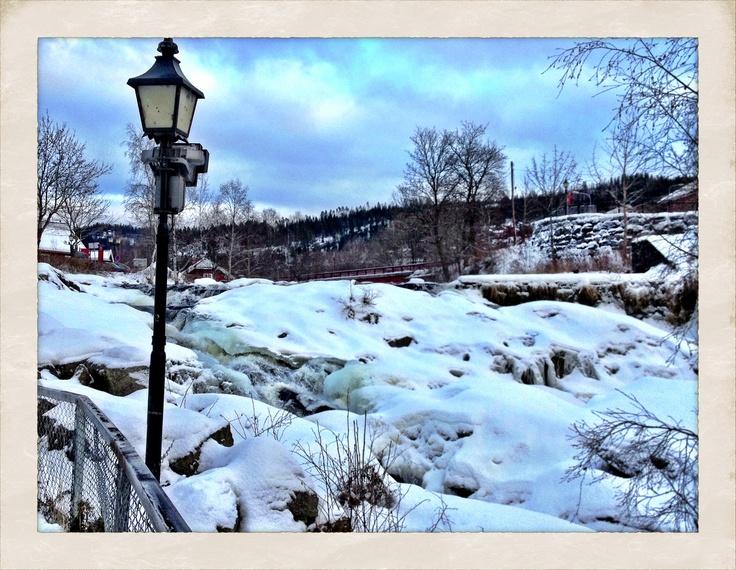 Bærums Verk, the waterfall, Bærum, Norway