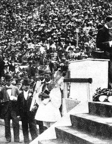 April 15, 1896  Closing ceremony of the Games of the I Olympiad in Athens, Greece.