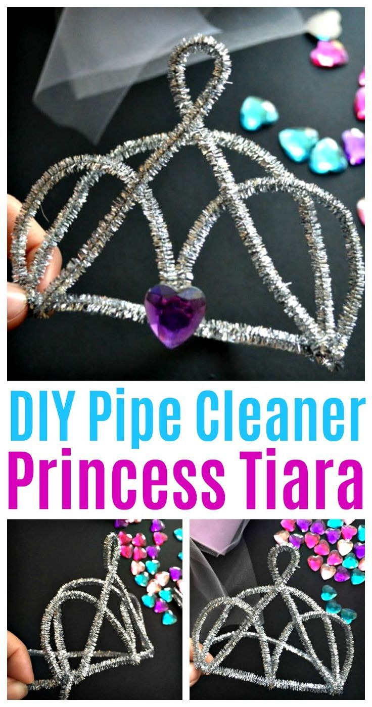 DIY Pfeifenreiniger Princess Tiara – Perfekt für Halloween von Dress Up #halloween …