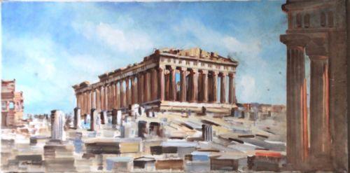 Acropolis-of-Athens-acrylic-colors-on-canvas-size-100-cm-x-50-cm