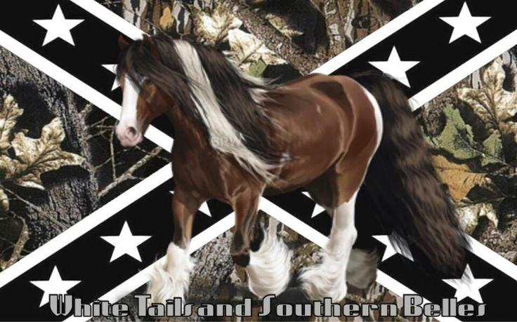 Horse confederate flag camo