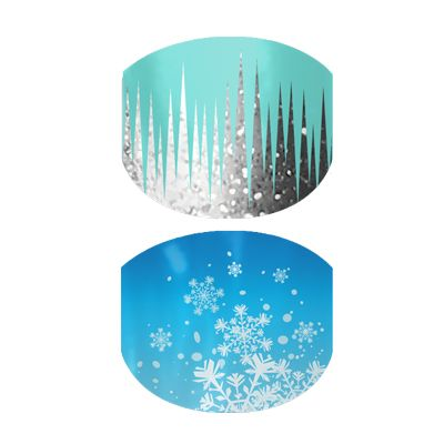 Snow and Ice nail wraps by Jamberry Nails (Jamberry Juniors)  $15.00
