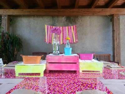 #fluo #barbecue #party #summer #festa #estate #pink #fucsia #giallo #yellow #orange #arancione #turchese #tourquoise  #centerpiece  #centrotavola #tableset
