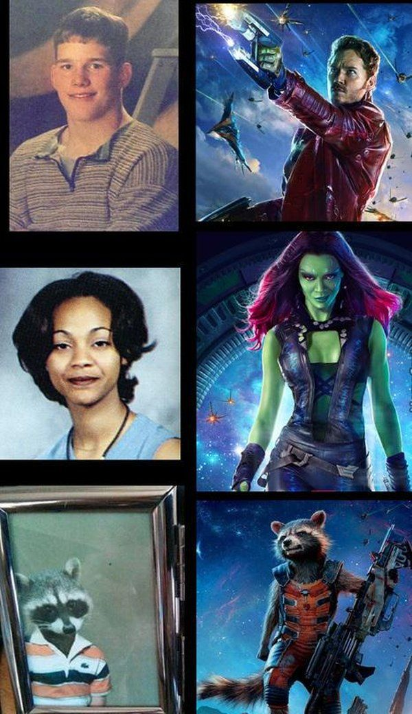 High School Wasn't Easy For The Guardians Of The Galaxy ROFLMAO!!!!!!!!!!