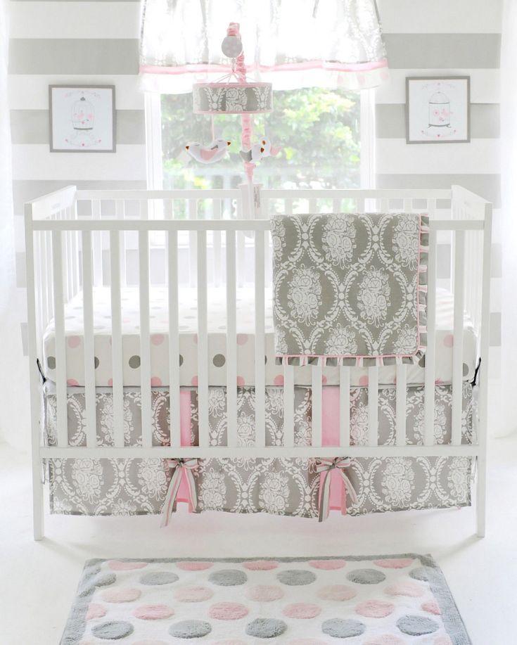 My Baby Sam Olivia Rose Nursery Crib Bedding Set CHOOSE 3 4 5 Piece
