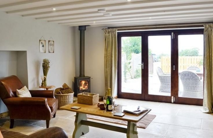 A lovely inviting living room at Edistone Barn, Hartland, nr. Bideford