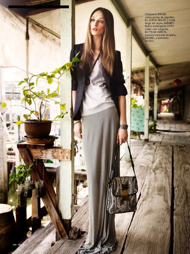 17 Best images about Grey Maxi Skirt on Pinterest | Denim jackets ...