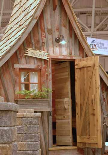 Rustic Way Saunas-fun exterior & roof line