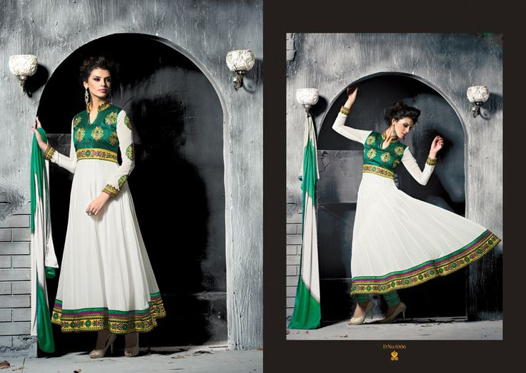 Wight Green Pure Georgette Cinderella Fashion Queen.  Pricing Call Us or What's App Us on :- +91 99099 59528 Visit Our Site=> #www.sareemall.in Email Us on:- support@sareemall.in