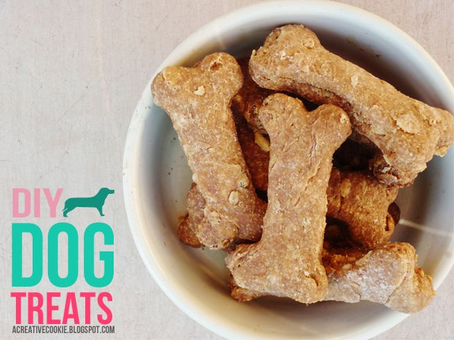 DIY Dog Treats recipe from {A Creative Cookie} http://acreativecookie.blogspot.com/2013/01/diy-dog-treats.html