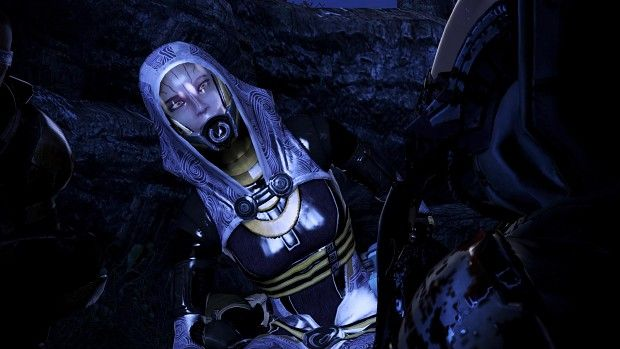 Tali Face Mod in action, bug fix