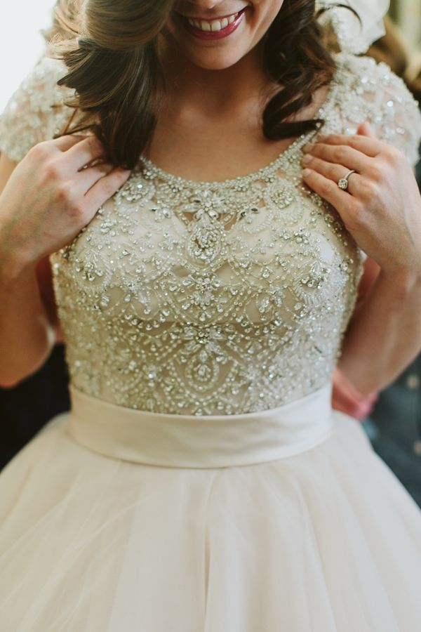 jeweled wedding gown | Paige Jones