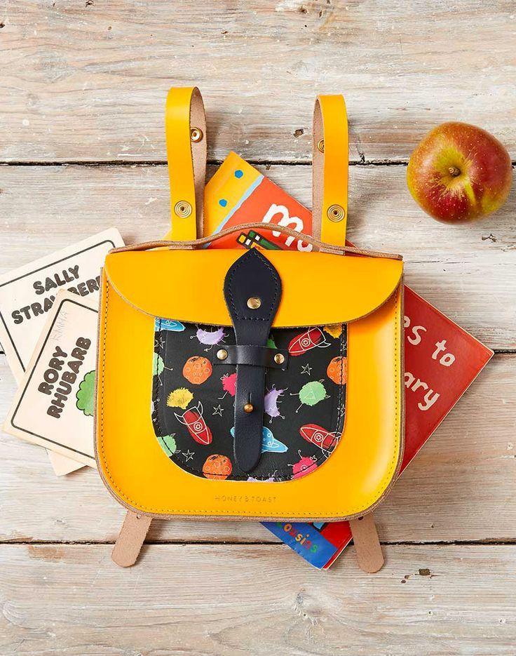 Honey & Toast leather school satchel - made in England | moonpicnic.com