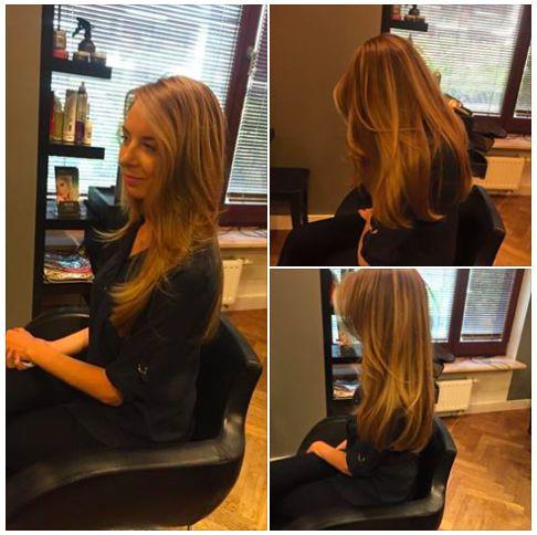 Sombre hair, long hair