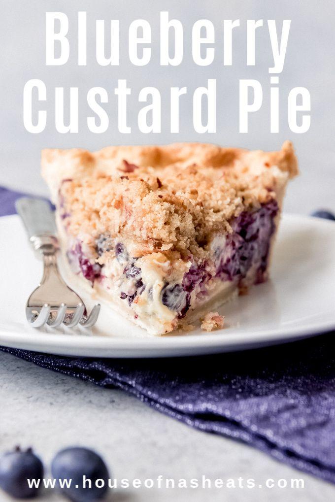 Blueberry Sour Cream Custard Pie Blueberry Cream Pies Blueberry Custard Pie Blueberry Recipes