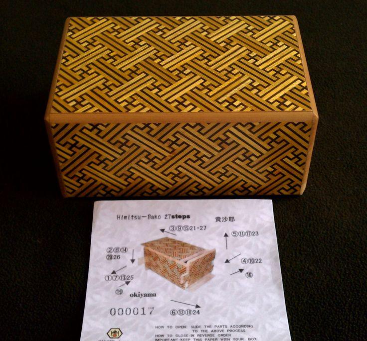 The 5 Sun 27 Step Kizaya Japanese Puzzle Box.