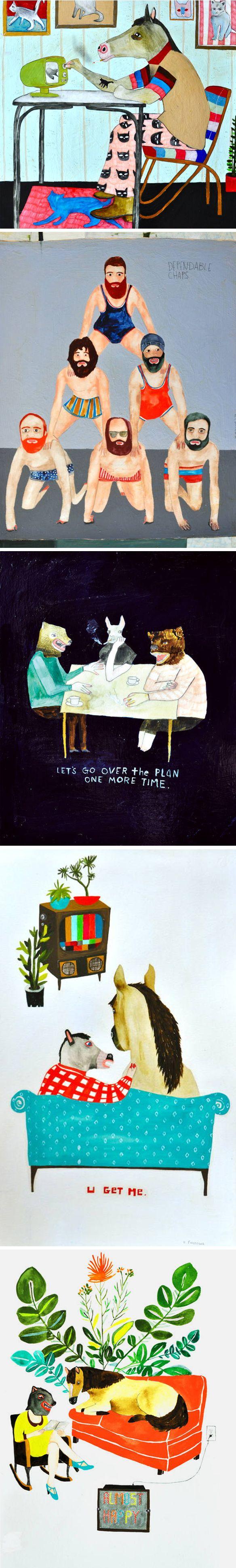 paintings & drawings by kelly puissegur <3