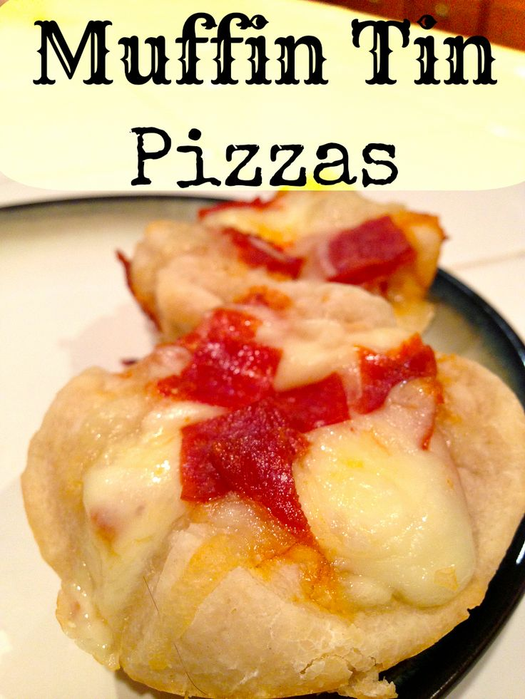 Muffin Tin Pizza Recipe as well as one for muffin tin meatloaf......your kids will LOVE them!!
