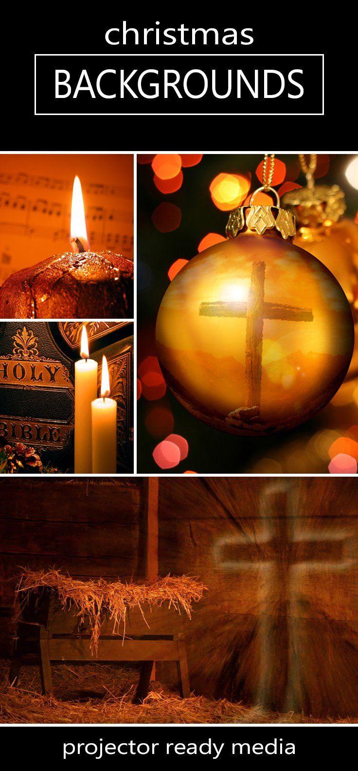 Christmas Backgrounds - Projector Ready Christmas Media | ImageVine