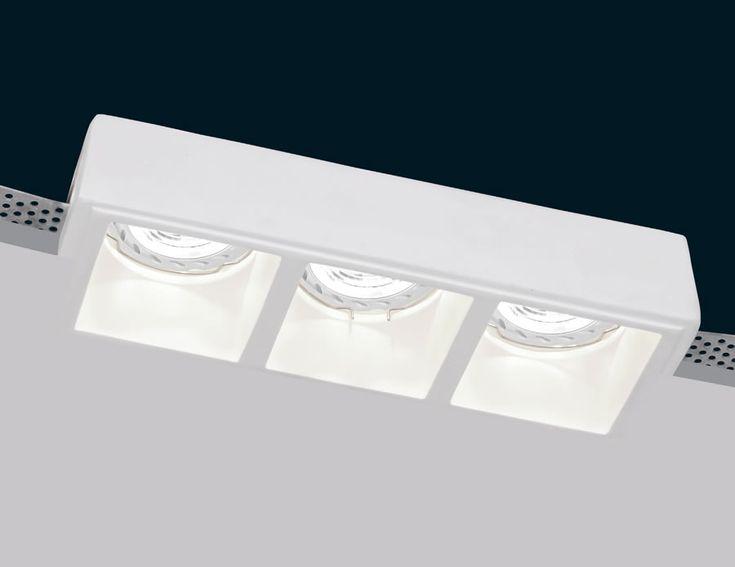 foco de yeso integrado para techos de pladur decoracion iluminacion lamparas