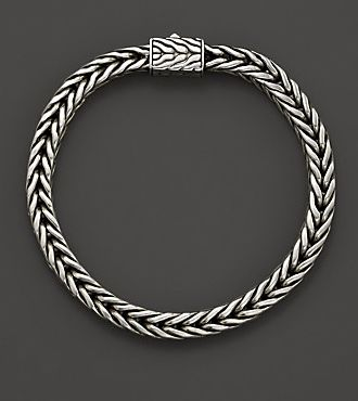 Gifts for the groom: John Hardy Men's Silver Small Square Chain Bracelet