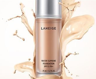 LANEIGE Water Supreme Foundation SPF15 PA+_A skin-clarifying foundation with the supple Aqua Texture to enhance moisture clarity of your skin with a supple and refreshing texture