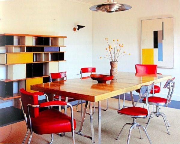 itten contrast of hue modern interiorsdesign interiorsmodern dining roomsprimary colorscolor palletsmidcentury moderncolour