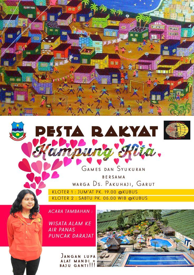 KAMPUNG KITA Community Development TERRA ITB Poster  collecting shitzz