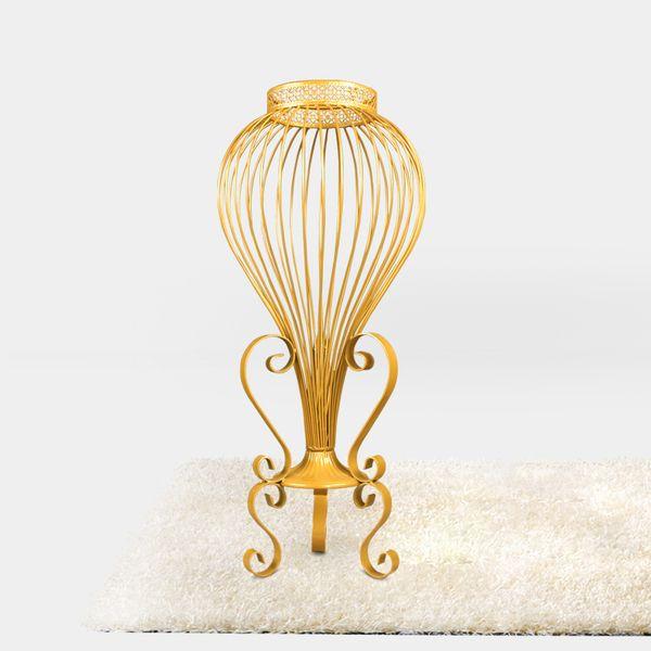 Новый европейский стиль золотой свадьбы реквизит главный стол ваза для цветов цветок украшения цветок стойки железный дороги свинца