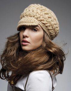 crochet hat, free pattern :)gorra con visera .