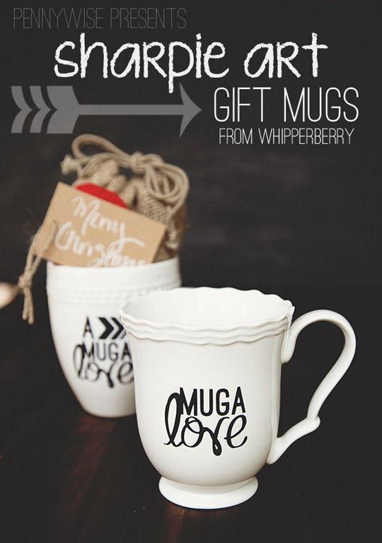 Make a custom mug with a sharpie marker. #pennywisepresents