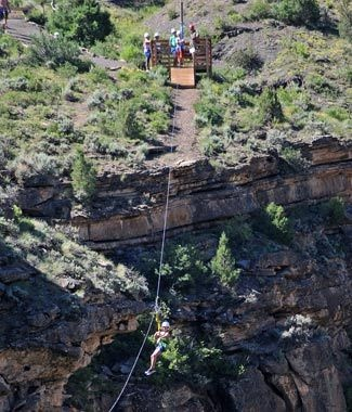 Colorado Zipline Adventures in Vail Colorado!  Our Colorado Zipline Tour will take you 200' above the river, and our longest zip line is over 1000'.