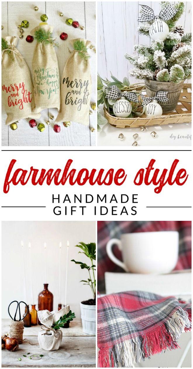 Diy Farmhouse Gifts 10 Handmade Gift Ideas With Farmhouse Style Mason Jar Christmas Gifts Easy Handmade Gifts Diy Holiday Gifts