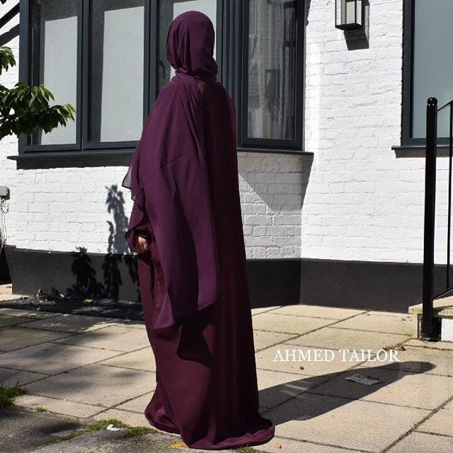 Cherry Maroon Colour - Bisht Abaya Sana | Hijab | available online #ahmeddesign #ahmedtailor #abaya #muslimah #jilbaab #modest #hijab #niqab #umbrellaabaya  #lavender #dustyrose #purple #colourfull #khamar #classic #marwa #hajj #umrah