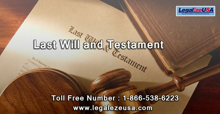 Last Will and Testament --http://goo.gl/rdzBf7