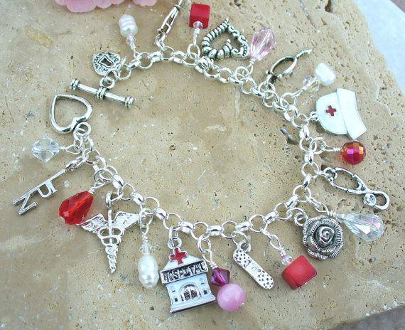 Licensed Practical Nurse Charm Bracelet by KipajiPraiseJewelry, $30.00