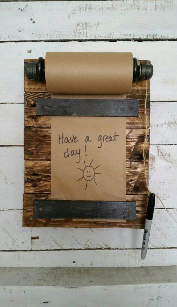 Rustic Mini Memo Board Reclaimed Wood Memo Board Message Board Farmhouse  Pallet Wood