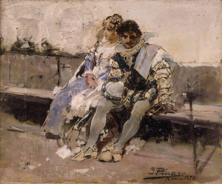Enamorados, 1878, oleo sobre lienzo, 29 x 35 cm. Obra de Ignacio Pinazo