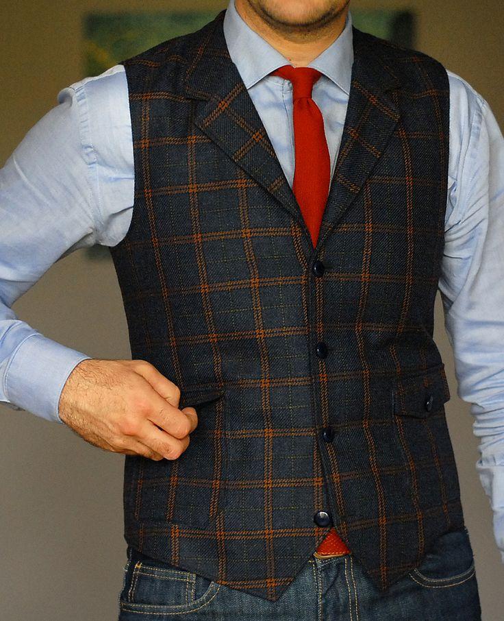 Tailor-Made lapel waistcoat - 100% italian wool