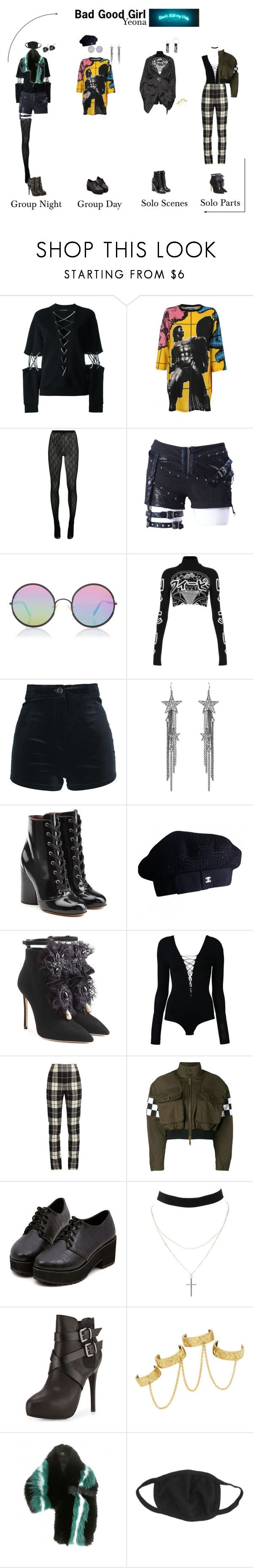 """Bad Good Girl ~ Yeona"" by nsgirls ❤ liked on Polyvore featuring Filles à papa, Moschino, Gucci, Sunday Somewhere, Illustrated People, Ben-Amun, Marc Jacobs, Chanel, Dsquared2 and T By Alexander Wang"