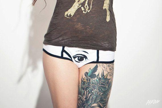 womens underwear white boy short women panties 女性下着 1AEON by 1AEON