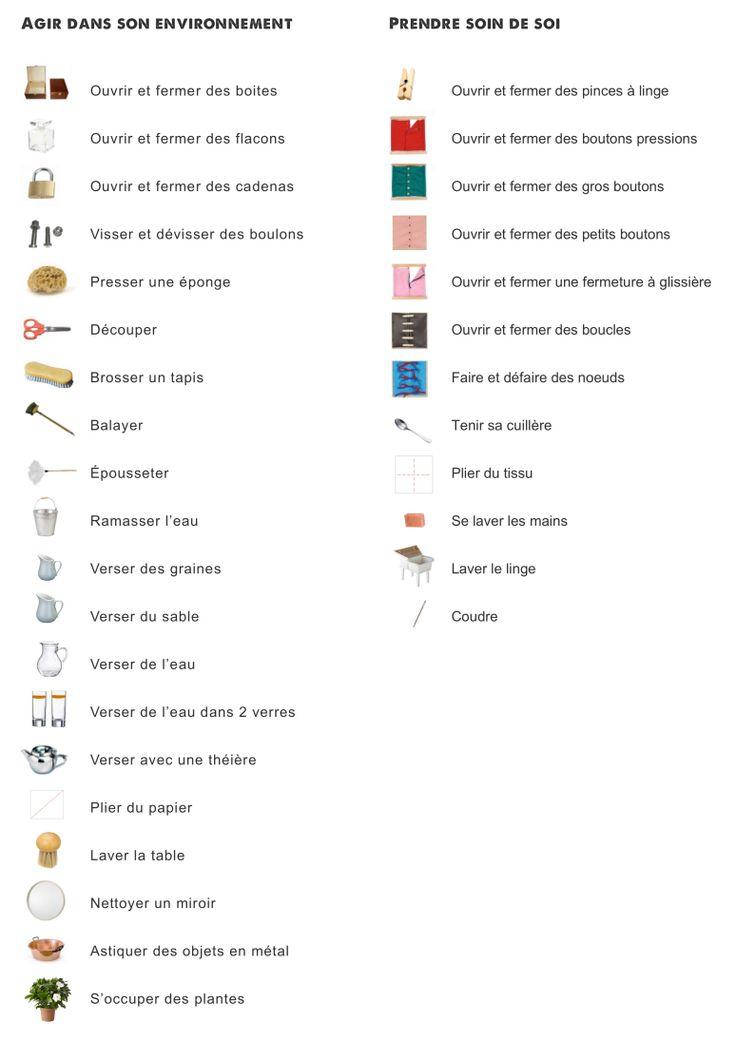 Liste du matériel didactique: activités pratiques   Classe maternelle, Gennevilliers